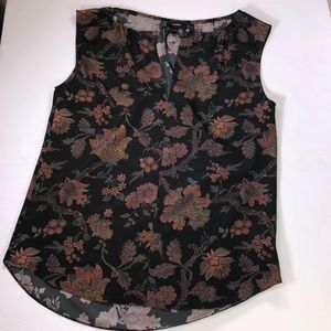 Theory women's sleeveless flower Silk blouse Sz.S